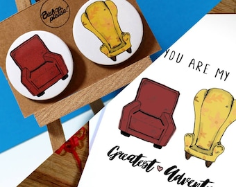 Greetings Card + Matching Badges!! You Are My Greatest Adventure! UP Disney Pixar - Anniversary, Birthday, Valentines
