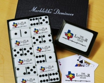 Lone Star State Dominoes & Playing Cards Gift Set