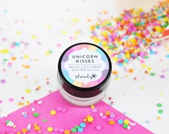 Unicorn Kisses - Glitter Lip Gloss - Natural Lip Gloss - Natural Lip Balm - Unicorn Gift - Hen Party Favour