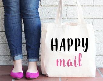 Happy Mail Tote | Shop Owner Tote | Mail Pickup Tote