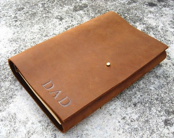 Personalized Leather Journal custom leather journal lined paper leather journal refillable mens journal custom journal handmade journal c