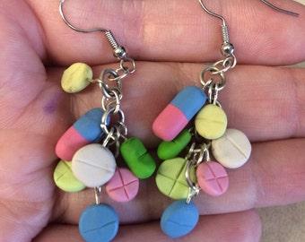 Clay pharmacy earrings