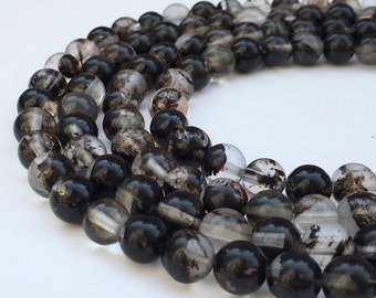 1Full Strand Black Cherry Quartz Round Beads, 8mm 10mm Wholesale Fire Cherry Quartz Gemstone For Jewelry Making