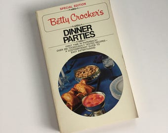 Vintage Betty Crocker Cookbook - Dinner Parties - 1970s Cookbook - Vintage Kitchen - Recipe Collection - Paperback Cookbook - Special