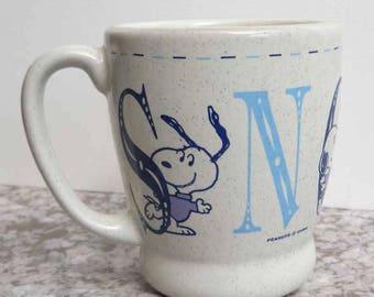 Snoopy Mug DENZ SMUJA Made in Japan x1