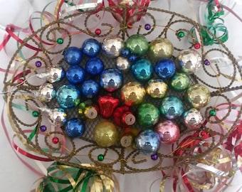 Vintage Miniature Mercury Glass Ornaments Including Shiny Brites