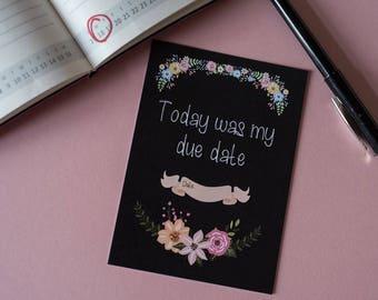 Baby Milestone Cards / Premature Baby Milestone Cards / Tiny Baby / New Baby gift /Preemie / Chalk Floral / FREE UK P&P