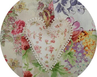 Scented Heart Sachet, assorted fabrics and fragrances