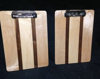 Maple & Walnut Clipboards FREE SHIPPING!
