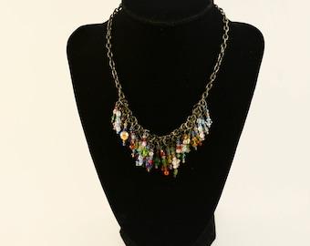 Multi Color Bead Necklace