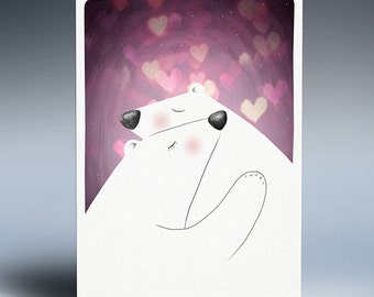Digital art print, Family illustration, Bear print, Instant download, Drawing, Gift, Art illustration, Printable poster, Nursery wall art