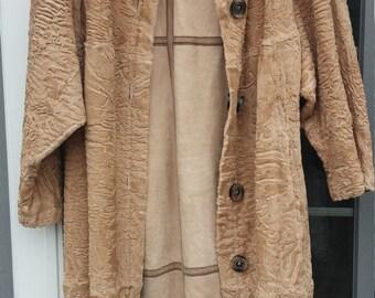 Broadtail Persian Lamb Swakara Reversible  Fur Coat High Quality Fur