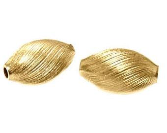 14x8mm Gold Filled Satin Twist Oval Beads 14/20kt.