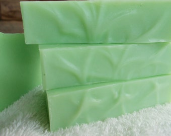 Cucumber Melon Soap - Cold Process - Artisan Soap with Organic Sunflower Oil - Handmade - Vegan