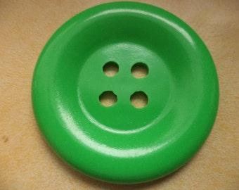 big button 50mm Green 5 cm (950) buttons coat buttons