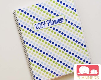 Kid Planner in Dots, School Year August 2017 - July 2018