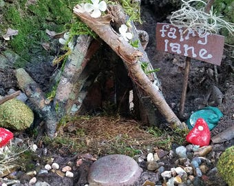 Fairy Garden House, Fairy House, Outdoor Fairy House, Terrarium House, Gnome House, Terrarium Kit, Miniature Fairy House, Fairy Garden Home