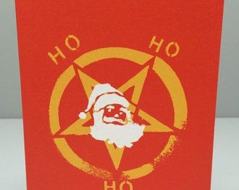 In League With Santa Christmas Card
