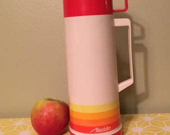 Red and Orange Aladdin Thermos
