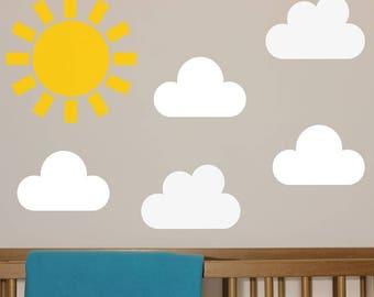 Sunshine & clouds  vinyl Wall Art sticker decal graphics decor home