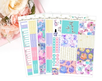 Be Yourself Floral Planner Sticker Kit / vertical / floral / Be Yourself!