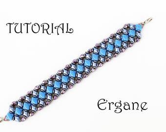 Diamond Duo Bracelet, Bracelet Beading Tutorial, Beaded Jewelry, Beading Pattern, Ergane Beading