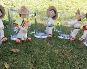 """Mexican beer mug"""" borrachitos"""""""