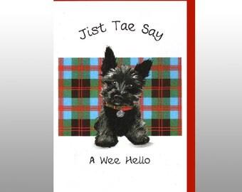 Greetings 'Jist Tae Say, A Wee Hello' Card WWGR24