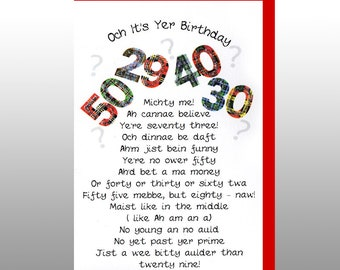 Birthday Humorous Age Card WWBI53