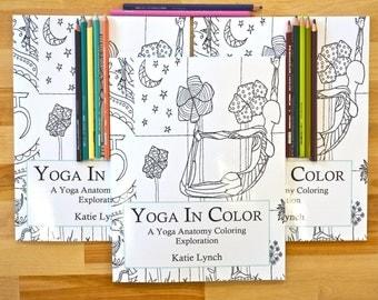 Yoga Coloring Book Anatomy Adult