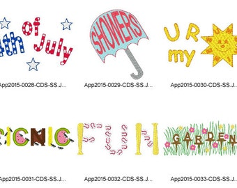 Summer-Words-5x7 - 5 ( 6 Machine Embroidery Designs from ATW ) .sfe03