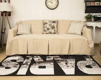 Beige Sofa Chair Covers, Sofa Covers For Pets, Sofa Slipcovers, Sofa Throws,