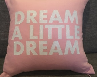 DREAM pink pillow cover