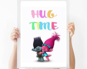 INSTANT DOWNLOAD - Trolls Sign - Wal Decor Art Print - Girls Bedroom Prints - Play room Decor Prints