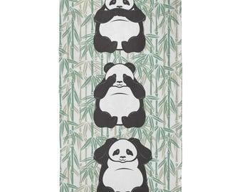 Panda No Evil All Over Beach Towel