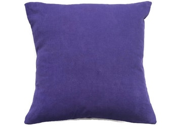 Purple Corduroy Pillow Cover/ Handmade Cushion Cover/ Textured Purple Accent Pillow