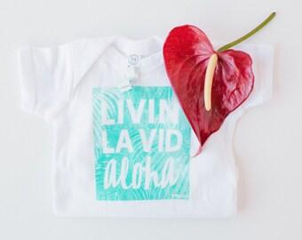 Aloha Bodysuit, Aloha Creeper, Aloha Tee, Gender Neutral Baby Gift, Baby Boy, Baby Girl, Hawaiian Baby Gift