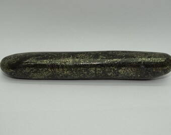 "Rare  XLONG   5""  Healer's Gold(magnetite+Pyrite) Rounded Wand#11- NEW ITEM!"