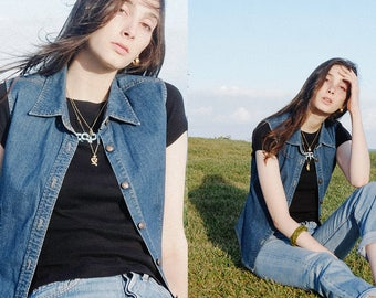 Designer Denim Top / Vest - Original '90s - DKNY