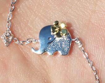 Elephant bracelet sterling silver