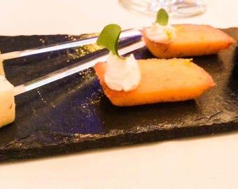 set sushi in natural slate