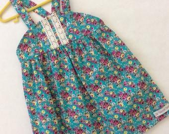 Little Girls 'Vintage Rose' dress, Toddlers Dress, Baby Dress