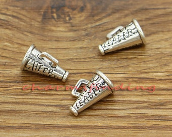20pcs Cheerleader Megaphone Charms Antique Silver Tone 3 D 15x11.5mm cf0811
