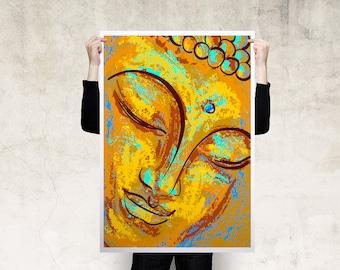Watercolour Buddha Art