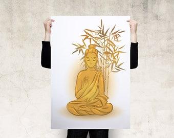 Sitting Buddha Art Poster