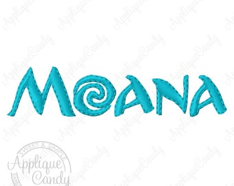 Hawaiian Hawaii Princess Moana Applique Machine Embroidery Design 4x4 5x5 6x6 5x7 logo INSTANT DOWNLOAD