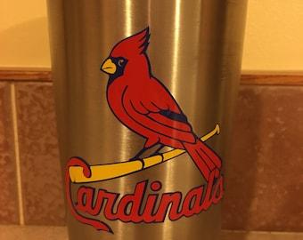 St. Louis Cardinals, yeti decal, car decal, laptop decal, yeti decal for women, yeti decal for men, sports decals, sports decals for yetis