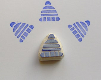 Winter hat stamp, knitted cap stamp, winter, holiday, rubber stamp, crochet hat, scrapbooking, diy, cardmaking, wrapping, fashion, crafts