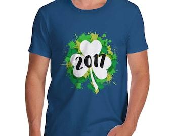 St Patrick's Day Clover 2017 Men's T-Shirt