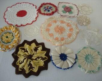 S)  Crochet Doilies.  Potholders.